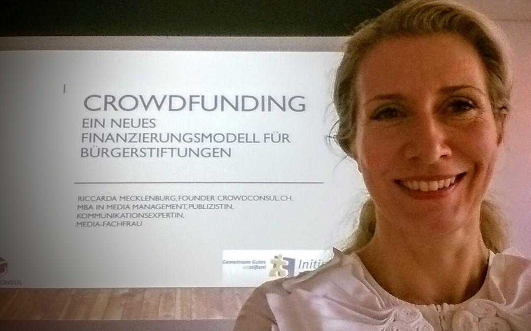 Crowdfunding Workshop mit Bürgerstiftungen