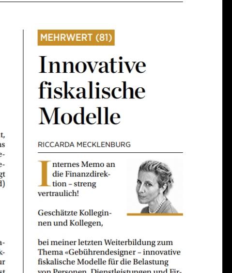 Innovative fiskalische Modelle